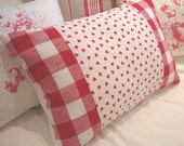 SwediSH/ReD ChecK/DOWN PiLLoW/CoTTaGE/HeARTS/ShABBy Chic
