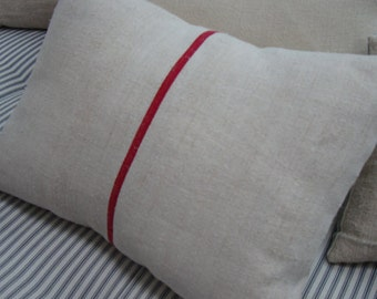 GRAINSACK Pillow Cottage Paris Shabby Chic Red Stripe 14x18 Insert