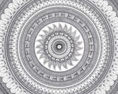 Mandala: Sun and Geometry giclee print