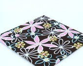 Wall Mount Magnet Board 12inx12in No Frame - Miller Daisy Dreams - Pink and Brown