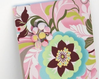 Fabric Covered Magnetic Bulletin Board 8.5 inch x 36 inch with Hunky Dory Pink Floral Fabric