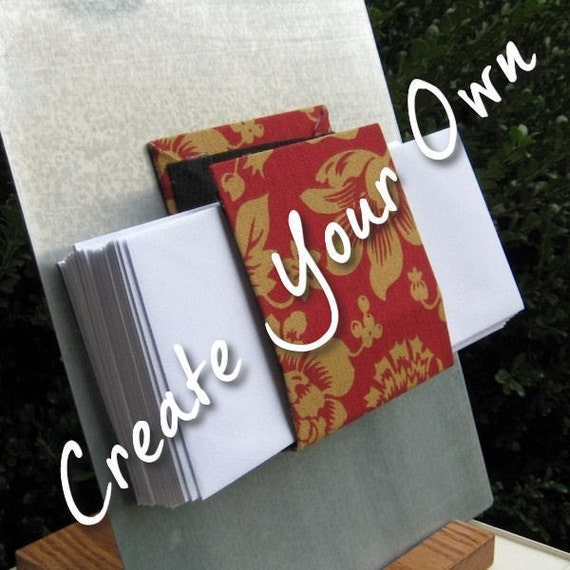 Magnetic letter, mail, or note holder - Pick your own fabric