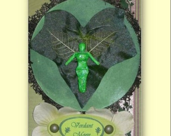 VERDANT Moon GREETING Card 12 Faery Moons MAY