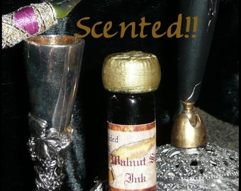 SCENTED Walnut Shell BROWN Writing and Dip INK Steampunk Antique