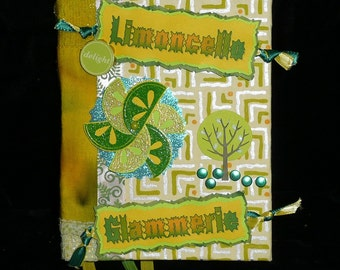 LIMONCELLO Hand Bound GLAMERIE Fairy SPELLBOOK, Journal, Book of Secrets, An Leabhar
