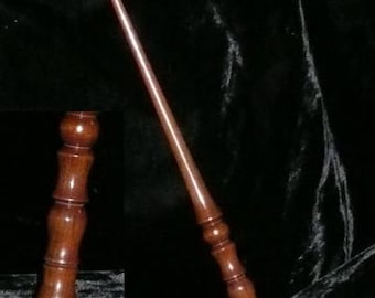 Brazilian WALNUT Handmade Magic WAND, Pagan, Wicca, WIZARD, Fairy, Druid