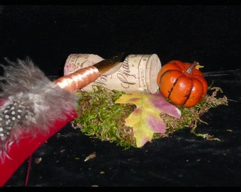AUTUMN Harvest QUILL Pen Rest HANDMADE, Fairy Stationary and Desk
