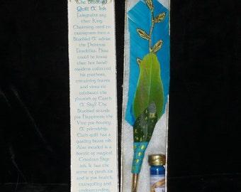 BLUEbird Feather QUILL Dip Pen and Scented INK Set Fantasy Collection