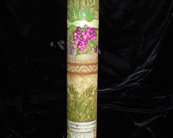 HANDMADE Vineyard SCROLL Case with Parchment Pagan, Wicca, Magic, Ritual