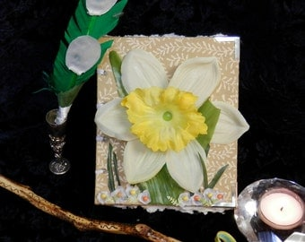 SALE Daffodil FAIRY Glamerie HANDMADE Spell Book of Secrets for Magic