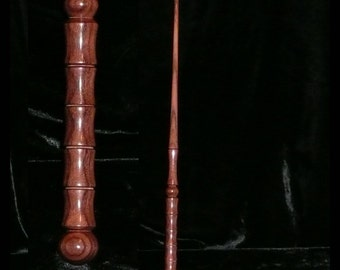 PAU (Pao) FERRO Handmade Magic WAND, Pagan, Wicca, Fairy, Wizard, Druid