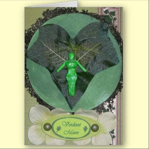 VERDANT Moon GREETING Card 12 Faery Moons MAY