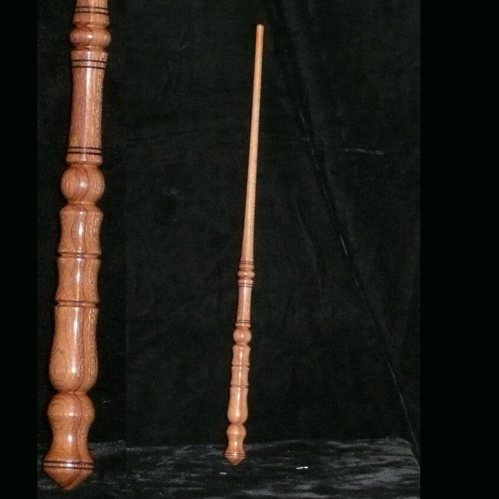Teak handmade magic wand wicca pagan fairy wizard druid for Wizard wand