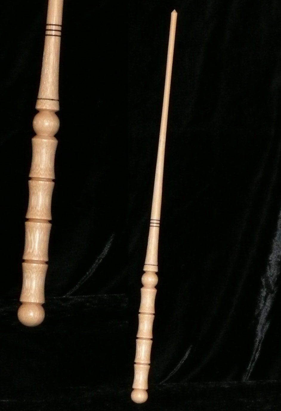 Bamboo handmade magic wand pagan wicca wizard fairy druid for Wizard wand