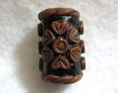 Dreads  Bead Faux Leather Flower  You Choose Hole Size