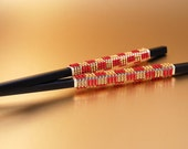 Chopsticks Or Hair Sticks ASIAN Wedding Beaded In Glass Beads SUSHI Utensil CHOOSE Your Colors