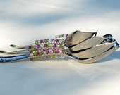 Candy Buffet Scoops QUALITY Stainless Hand Beaded Bridal Table Settings And Lolli Buffet -  Medium CHOOSE Your COLORS