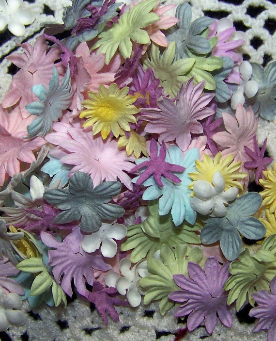 Lot of 100 Prima Flowers- Pastel Spring Mix Small