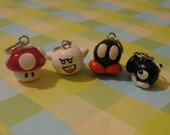 4 Piece Stitch markers/Charms, Super Mario, Nintendo