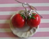 SALE Tomato Earrings, Nickel Free