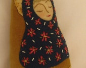 Wool Art Doll:  A Peaceful Offering