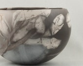 Pinched Clay Pot with Iris