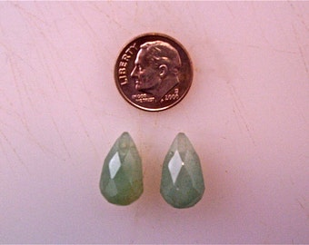Aventurine Faceted Teardrop Beads 10x16mm (2)