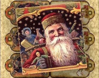 Santa's Helpers, 2x3 Gift Tags, Digital Collage Sheet no. 27