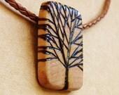 WOOD TREE PENDANT No. 2 - Celebrate Earth Day