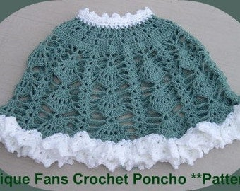Antique Fans CROCHET PONCHO PATTERN