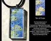 Glass Pendant  - Tarot  - Ten of Cups - by Stephanie Pui-Mun Law