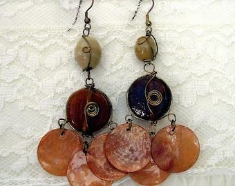 Vintage Inspired Amber Earrings