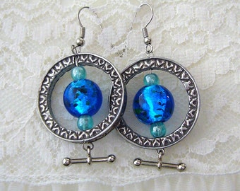 Silver Neo Victorian Earrings