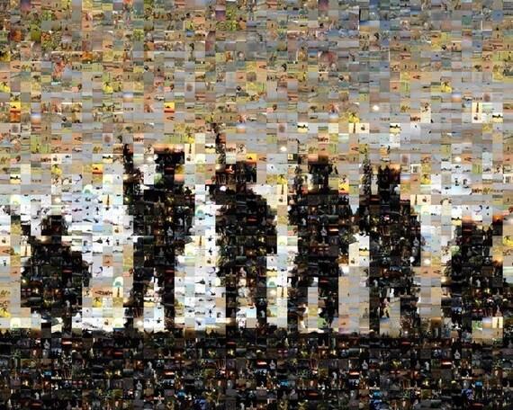 American Army Soldier Photo-Mosaic Art Print, ltd edition