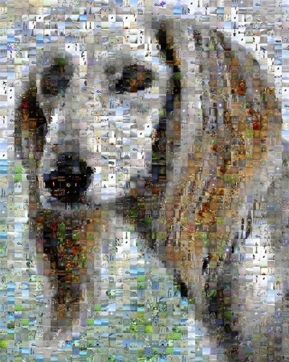 Saluki of Iran mosaic montage art print