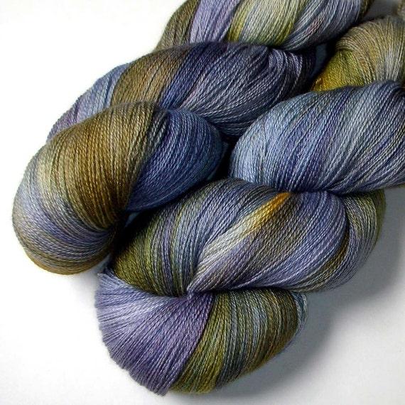 Merino and Silk Lace Yarn, Prairie Flower, 1300 yards
