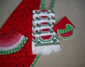Red  Watermelon Apron -  3 Piece Gift Set