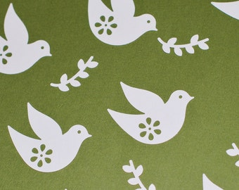 50 Hand Punched Doves with Olive Branch - Cardstock - 2 Inches - More Colors Available