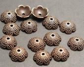 50 Antique Copper Bead Caps or Acorn Tops - Kumihimo Supplies BC 017