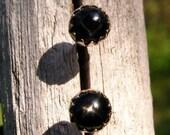 Black Star Diopside Earrings: Sterling Silver Gemstone Stud Earrings, 4mm - Free Gift Wrapping