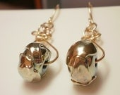 Glitterati lampwork earrings on gold filled earwires