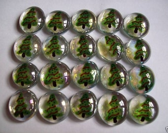 Christmas Tree hand painted glass gems party favors decorations