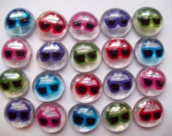 Sunglasses Hand painted glass gems party favors mini art   sun glasses  summer time