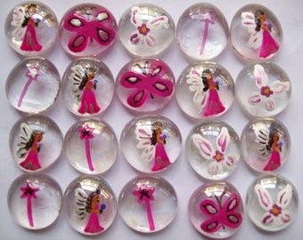 Fairies Hand painted Glass Gems party favors fairies  fairy mix