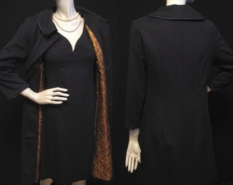 Vintage 60s Cocktail Dress with Matching Evening Coat S