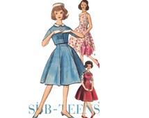 Vintage Sewing Pattern 60s Princess Dress Sleeveless Flare Skirt Jumper Matching Bolero Jacket 1960s Teen size Small XS Bust 33 Vogue 5243