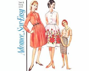 Vintage Dress Sewing Pattern Rockabilly 2-Piece Mad Men Blouse Skirt
