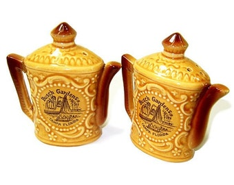 1970s Vintage Ceramic Salt Pepper Shakers Busch Gardens Souvenir
