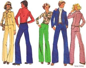 Vintage Sewing Pattern 1970s Mens Western Jacket Pants Large Uncut size 40 Chest Simplicity 7146 Unused Sewing Pattern Unused