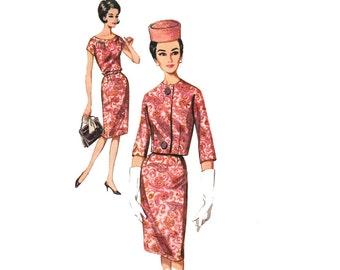 Vintage Sewing Pattern 1960s Wiggle Dress Matching Cropped Jacket Pencil Skirt Sheath Dress bust 34 size Medium Butterick 2571